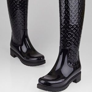 c87ae9625428 Louis Vuitton Shoes - Louis Vuitton Black Monogram Rain Boots